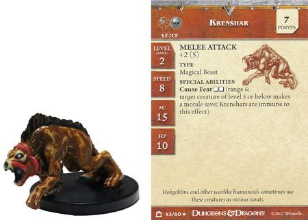 Krenshar #43 Night Below D&D Miniatures