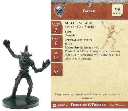 Babau #45 Night Below D&D Miniatures