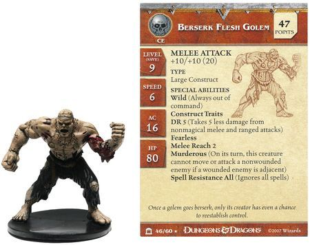 Berserk Flesh Golem #46 Night Below D&D Miniatures