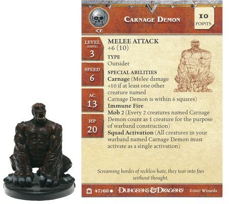 Carnage Demon #47 Night Below D&D Miniatures