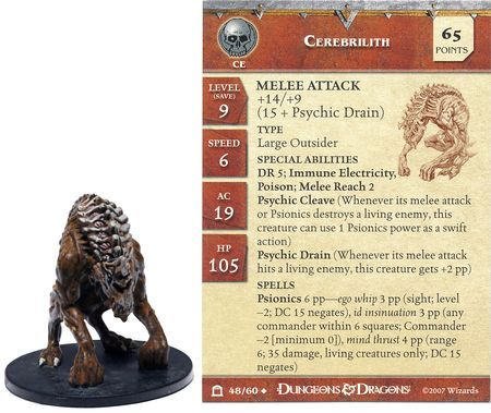 Cerebrilith #48 Night Below D&D Miniatures