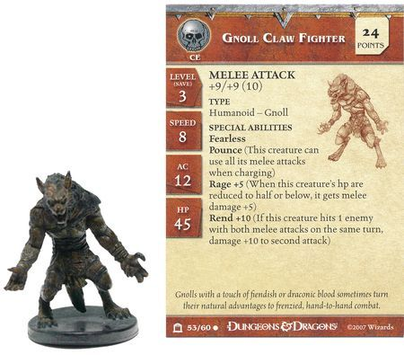 Gnoll Claw Fighter #53 Night Below D&D Miniatures