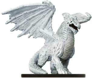 Large White Dragon #58 Night Below D&D Miniatures