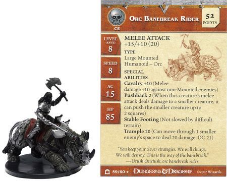 Orc Banebreak Rider #59 Night Below D&D Miniatures
