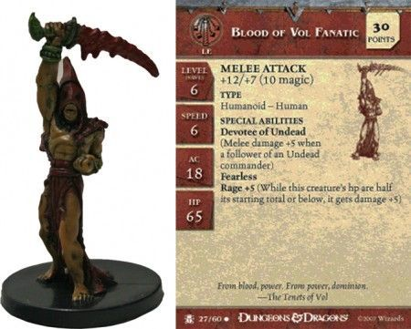 Blood of Vol Fanatic #27 Desert of Desolation D&D Miniatures