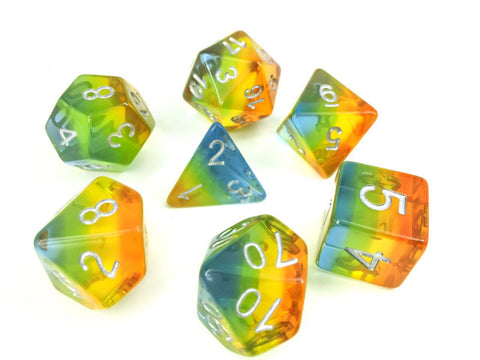 Yellow Aurora Dice Set
