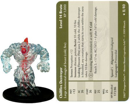 Chillfire Destroyer #08 Legendary Evils D&D Miniatures
