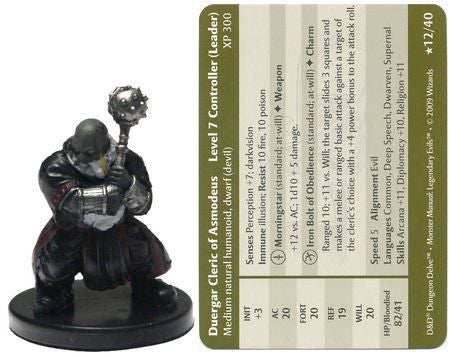 Duergar Cleric of Asmodeus #12 Legendary Evils D&D Miniatures