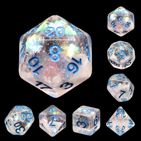 Snow Globe Dice Set