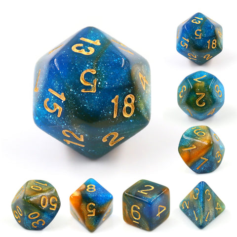 Dusk Galaxy Dice Set