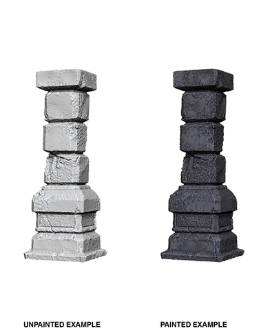 WizKids Deep Cuts Unpainted Miniatures: Pillars