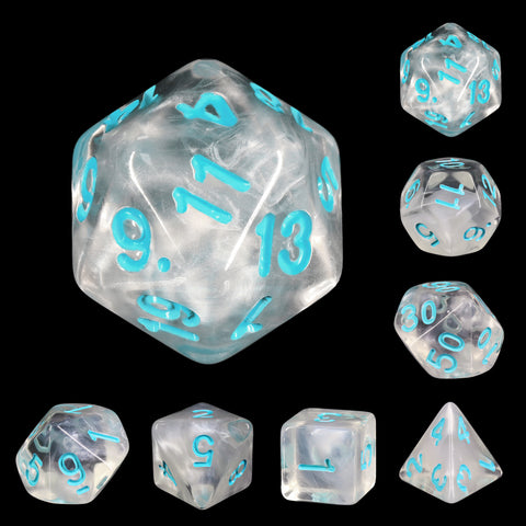 Frozen Heart Dice Set
