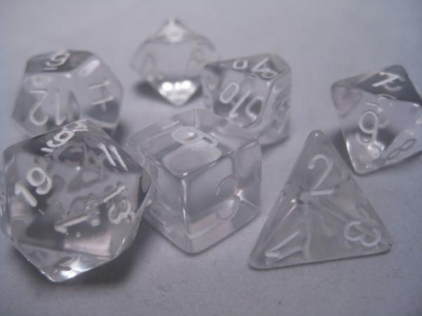 7-set Cube - Classic Clear with White