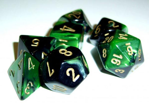 7-set Cube - Gemini Black Green with gold