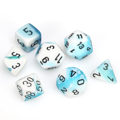 7-set Cube - Gemini Teal with White