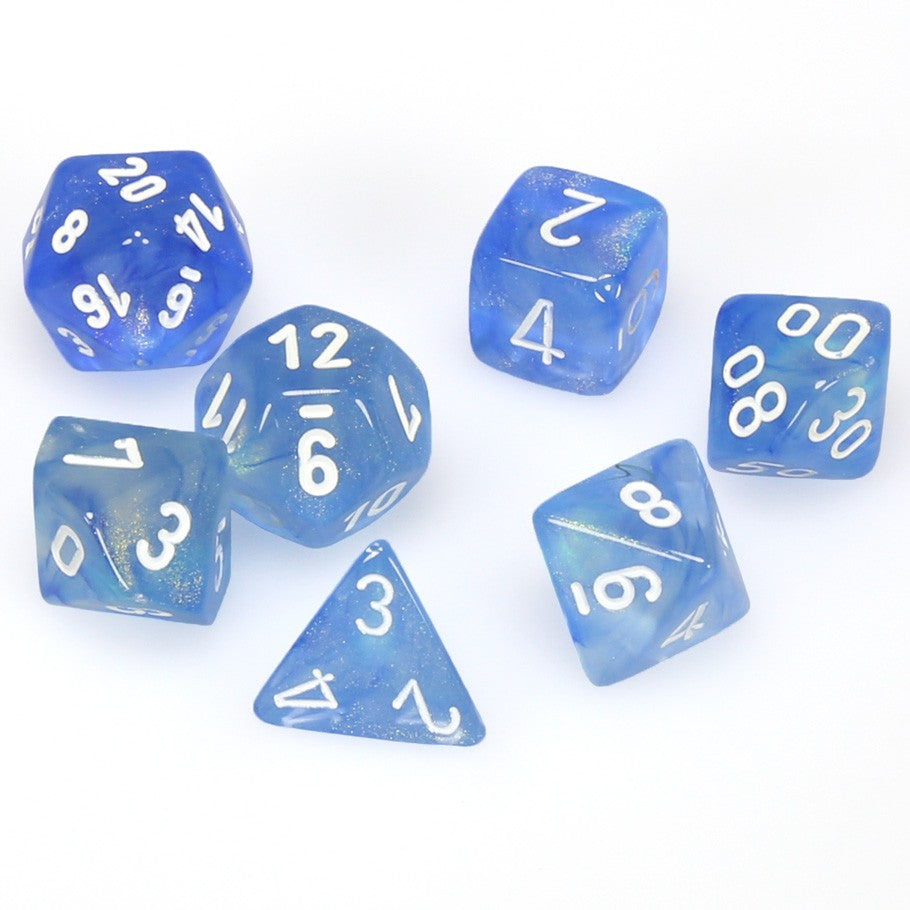 7-set Cube - Borealis Sky Blue with White