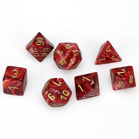 7-set Cube - Vortex Burgundy with Gold