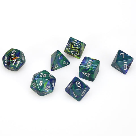 7-set Cube - Festive Green with Silver