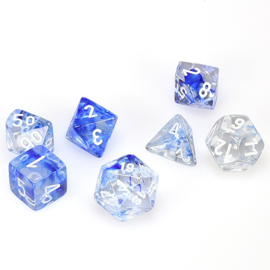 7-set Cube - Nebula Dark Blue with White