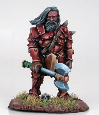 Visions In Fantasy: Male Dwarven Fighter w/Weapon Assortment