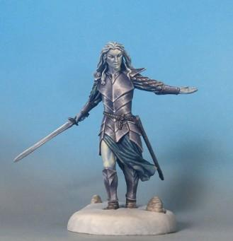 Visions In Fantasy: Male Elven Warrior with Long Sword