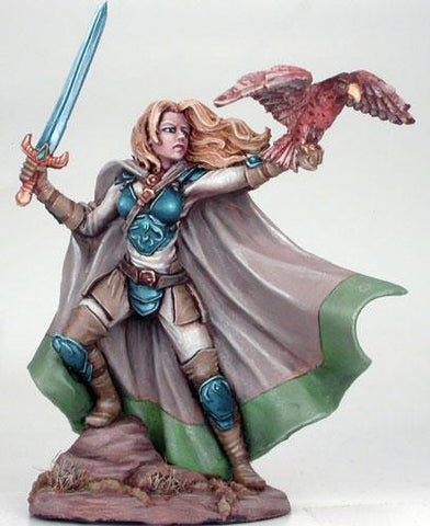 Visions In Fantasy: Female Ranger w/Long Sword & Falcon Pet (1)