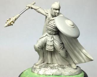 Visions In Fantasy: Male Warrior/Cleric with 3 Weapon Options and Shield (Mace, Sword, Axe)