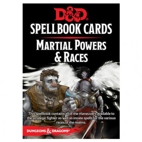 Dungeons & Dragons 5th Edition RPG: Martial Powers & Races Spellbook Deck (61 Cards)