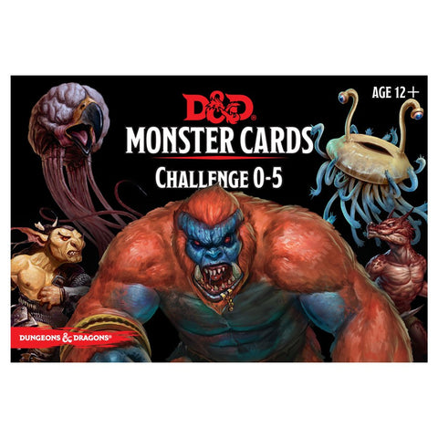 Dungeons & Dragons 5th Edition RPG: Monster Cards: Challenge 0-5