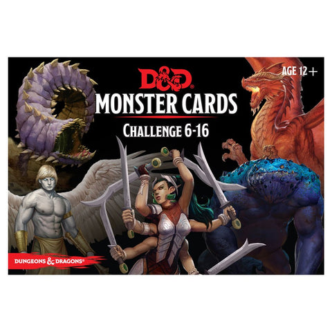 Dungeons & Dragons 5th Edition RPG: Monster Cards: Challenge 6-16 (74 cards)