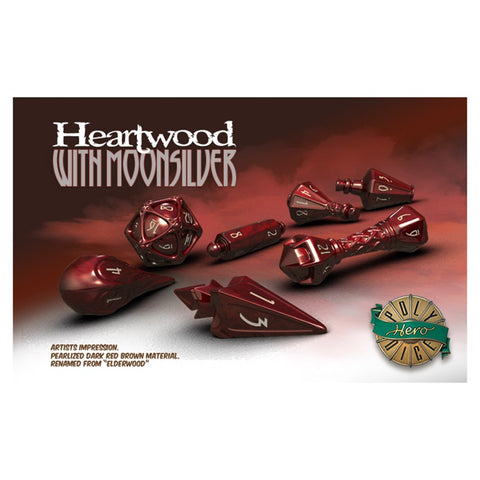 Wizard Dice: Heartwood with Moonsilver