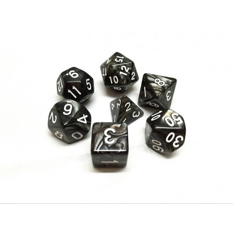 Black Pearl Dice Set