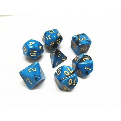 Black/Blue Blend Dice Set