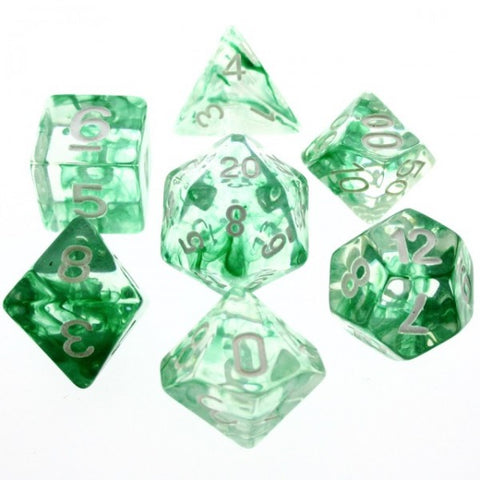 Green Nebula Dice Set