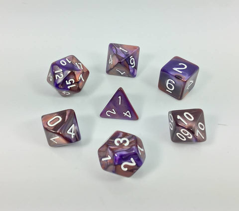 Copper/Blue Blend Dice Set