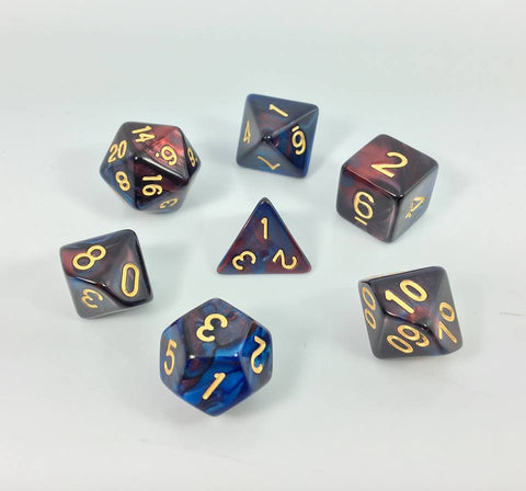 Dark Red/Blue Blend Dice Set