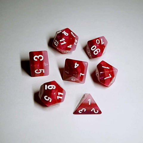 Red Gradient Dice Set