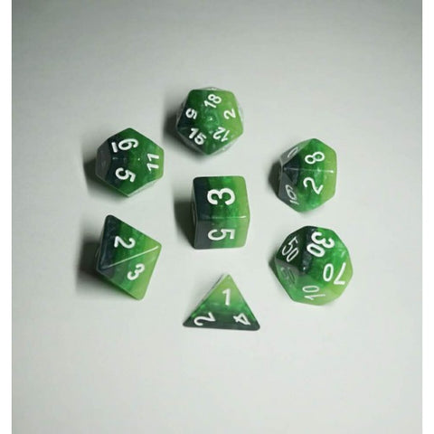 Green Gradient Dice Set