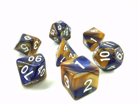 Dark Blue/Gold Blend Dice Set