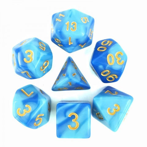 Sky Blue/Blue Blend Dice Set