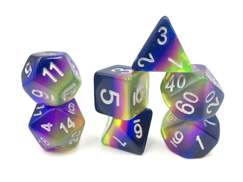 Neon Sunrise Dice Set