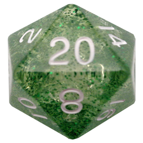 Mega D20: 35mm Ethereal Green with White