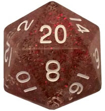Mega d20: 35mm Ethereal Purple with White Numbers