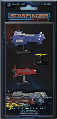 Starfinder Miniatures: Pact Worlds Fleet Set 1