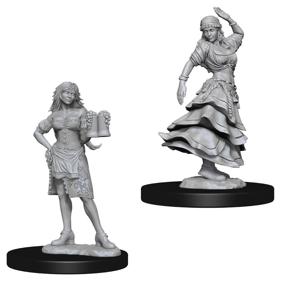 Pathfinder Deep Cuts Unpainted Miniatures: Bartender/Dancing Girl