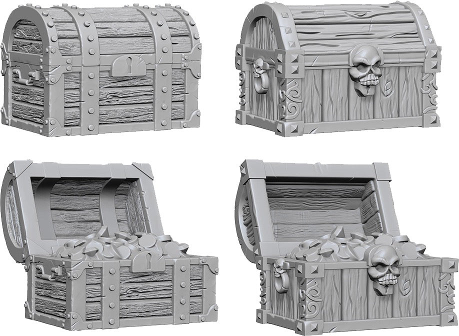 WizKids Deep Cuts Unpainted Miniatures: Chests