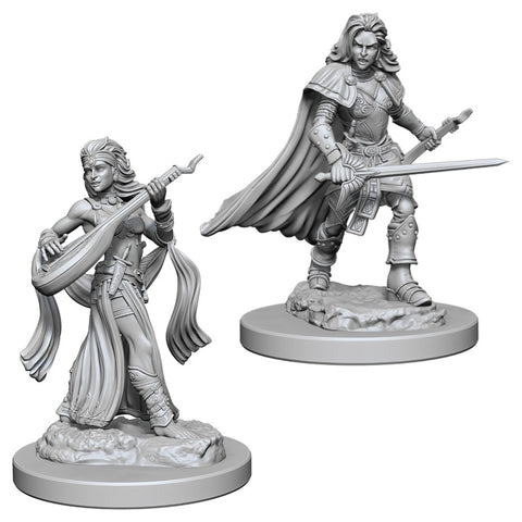 Pathfinder Deep Cuts Unpainted Miniatures: Human Female Bard