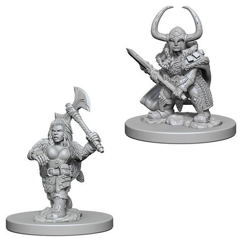 Dungeons & Dragons: Nolzur's Marvelous Unpainted Miniatures: Dwarf Female Barbarian