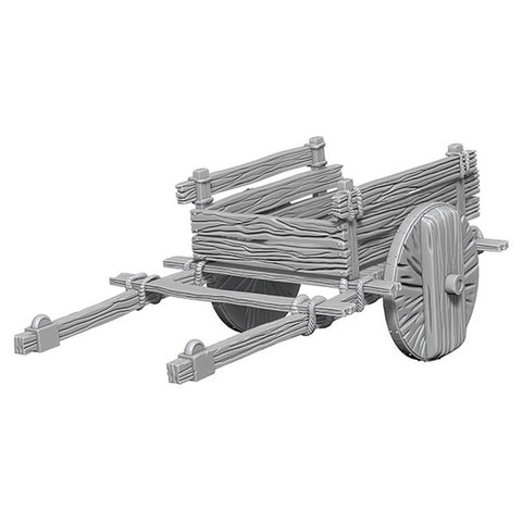WizKids Deep Cuts Unpainted Miniatures: 2 Wheel Cart