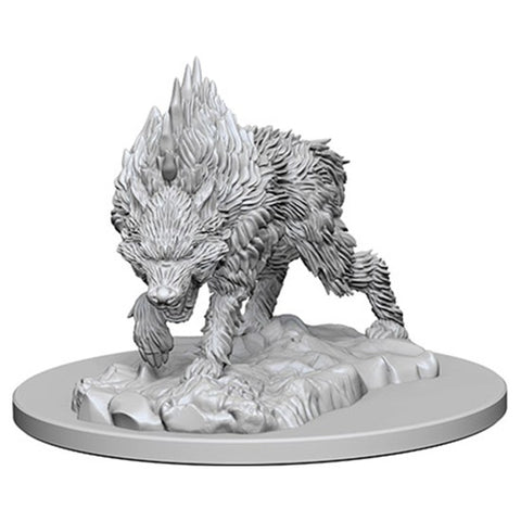 Pathfinder Deep Cuts Unpainted Miniatures: Dire Wolf